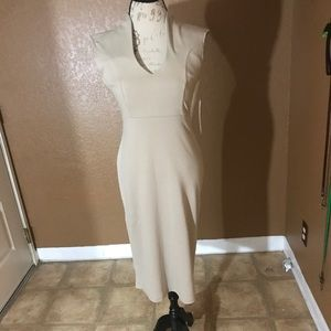 TAN MIDI DRESS SIZE L
